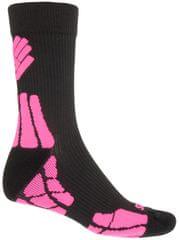 Sensor nogavice Hiking New Merino Wool, črne/roza