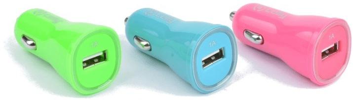 Celly Autonabíječka CL, USB, 1 A, růžová