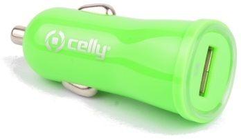 Celly autonabíječka CL, USB, 1 A, zelená