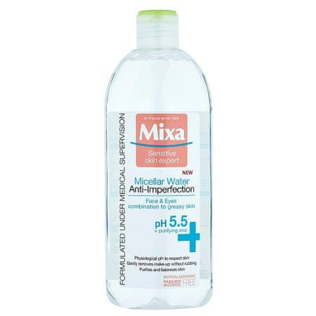 Mixa Micelárna voda pre zmatnenie pleti s pH 5.5 400 ml