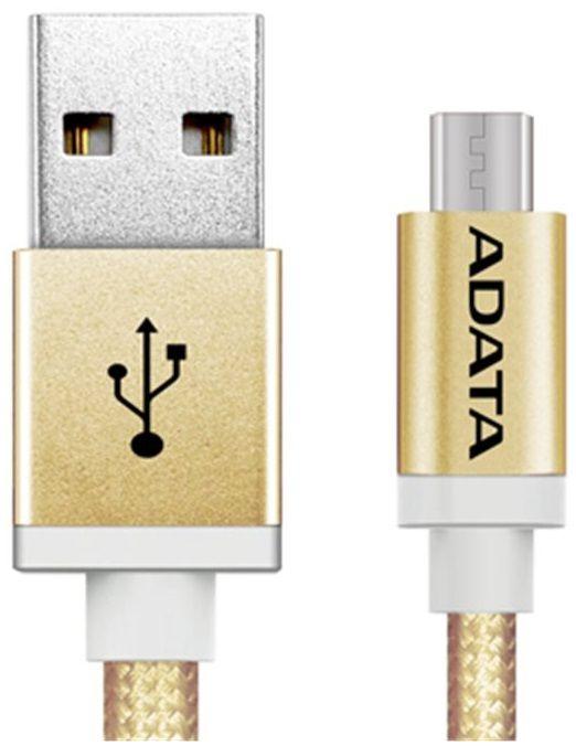 Adata kabel Micro USB, pletený, 1 m, zlatý