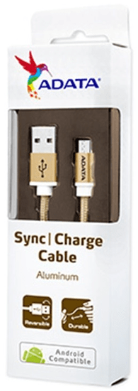 A-Data kabel Micro USB, złoty