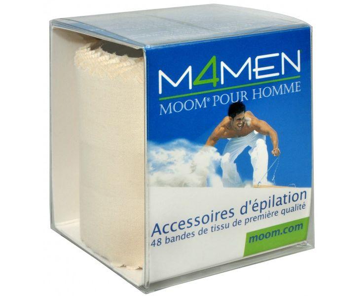 Moom Epilační textilní proužky pro muže (M4MEN Premium Fabric Strips) 48 ks
