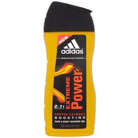 Adidas Sprchový gél a šampón pre mužov 2 v 1 Extreme Power (Hair & Body Shower Gel) 250 ml