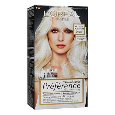 L'Oréal Zosvetľujúci farba na vlasy Blondissimes Préférence Extreme Platinum
