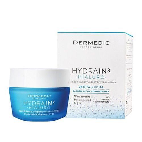 DerMedic Hloubkově hydratační krém SPF 15 HYDRAIN3 Hialuro 50 g