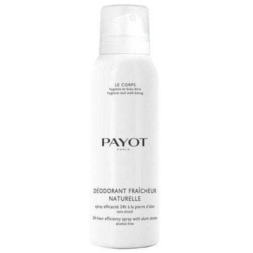 Payot 24h deodorant ve spreji bez alkoholu s kamencem (Deodorant Fraicheur Naturelle 24h Efficiency Spray)