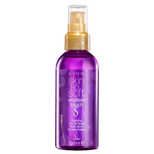 Avon Zklidňující olej ve spreji s arganovým olejem Skin so Soft Endless Touch 150 ml