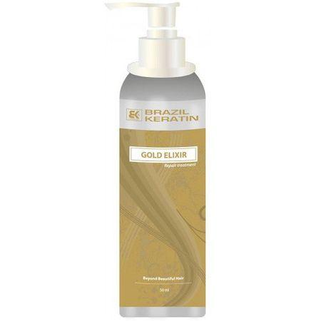 Brazil Keratin Elixír pro suché a poškozené vlasy (Gold Elixir Repair Treatment) 50 ml