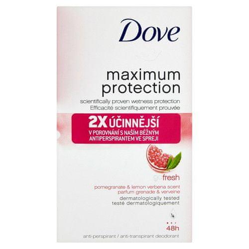 Dove Tuhý deodorant Maximum Protection Fresh s vůní granátového jablka a citronové verbeny 45 ml