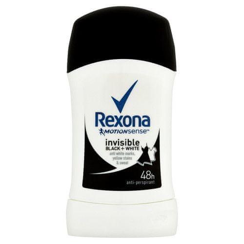 Rexona Tuhý deodorant Motionsense Invisible Black+White 40 ml