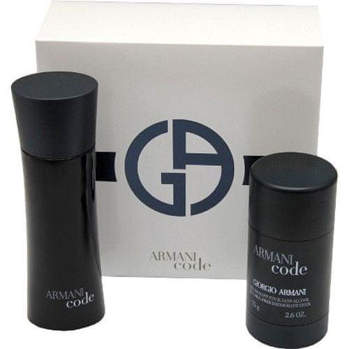 Giorgio Armani Code For Men - EDT 75 ml + tuhý deodorant 75 ml