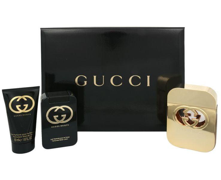 Gucci Guilty - EDT 75 ml + tělové mléko 100 ml + sprchový gel 50 ml