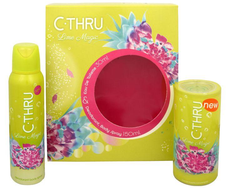 C-Thru Lime Magic - toaletní voda s rozprašovačem 30 ml + deodorant ve spreji 150 ml