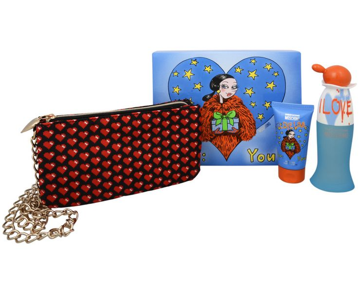 Moschino Cheap & Chic I Love Love - EDT 50 ml + tělové mléko 50 ml + kabelka