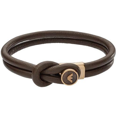 Emporio Armani Pánský kožený náramek EGS2213251