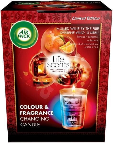 Air wick Multicolor svíčka Svařené víno u krbu 140g