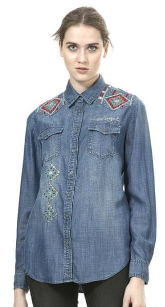 Desigual dámská jeansová košile M modrá
