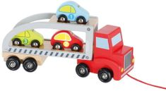 Johntoy Dřevěný transportér s autíčky
