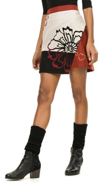 Desigual dámská sukně 40 červená