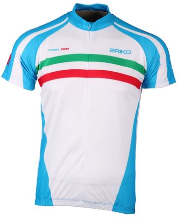 Briko Corsa Team White/lt Blue/Green/Red L
