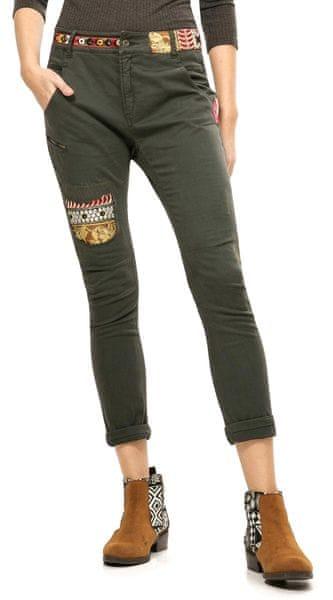 Desigual dámské kalhoty 28 khaki