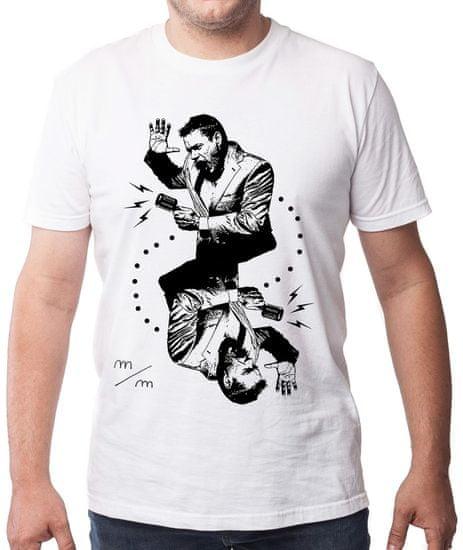 KlokArt pánské tričko Gildan 4100 bílá