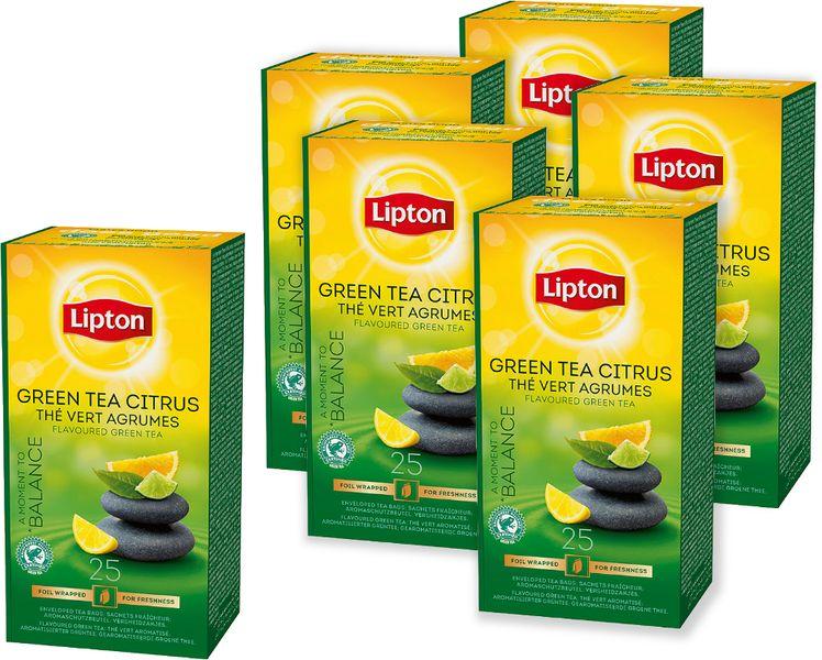 Lipton Green Tea Citrus zelený čaj 6x 25 sáčků