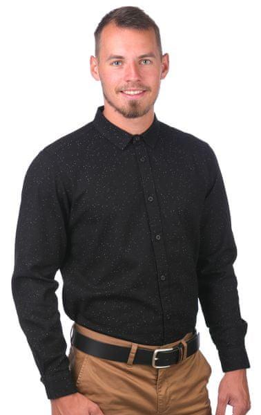GLOBE pánská košile Knight L černá