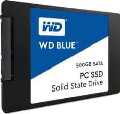 """WD SSD disk Blue SATA3 2,5"""", 500 GB WDS500G1B0A)"""