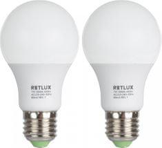 Retlux REL žárovka LED A60 7W E27 2 ks