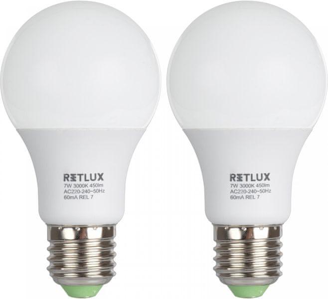 Retlux REL žárovka LED A60 7W E27 4 ks