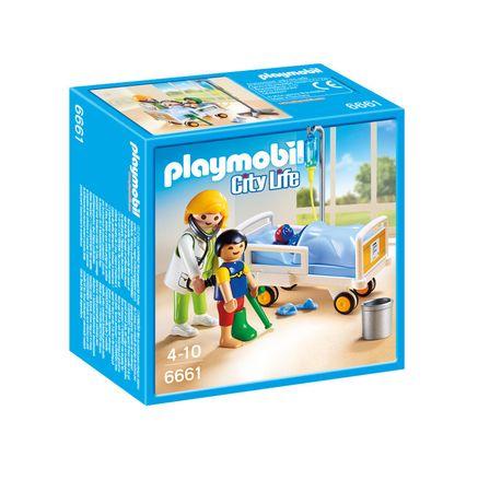 Playmobil 6661 Lekarka przy łóżku chorego dziecka