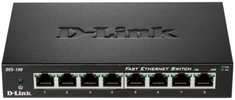 D-Link kovový 8-port 10/100 Desktop Switch (DES-108/E)