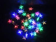 Noel Světelný LED řetěz hvězdy multicolor 6 m