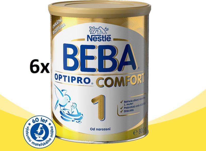 Nestlé BEBA OPTIPRO Comfort 1 kojenecké mléko - 6x800g
