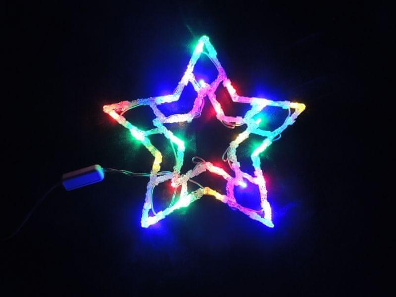 Noel Světelná dekorace do okna Hvězda - II. jakost