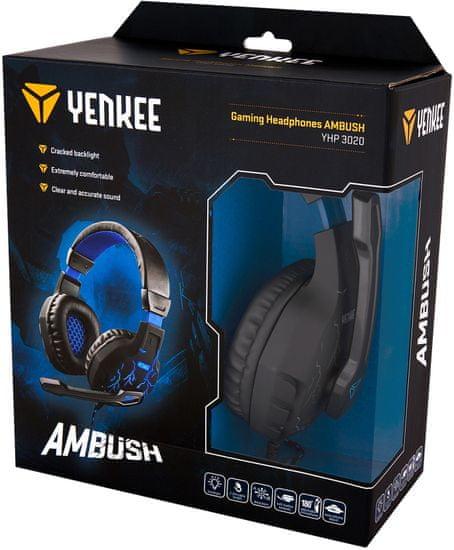 Yenkee Herní sluchátka AMBUSH (YHP 3020)