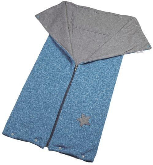 Little Angel Autofusak ze svetroviny Outlast, modrý melír/šedá