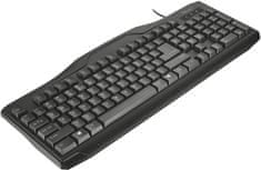 Trust ClassicLine Keyboard, CZ & SK, USB (20638)