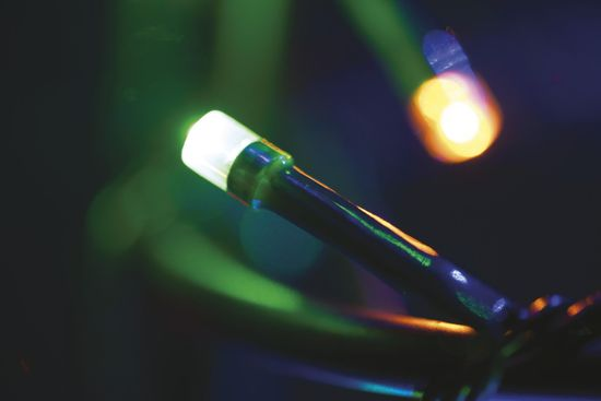 Emos Veriga s časovnikom 180 LED 18 m multicolor