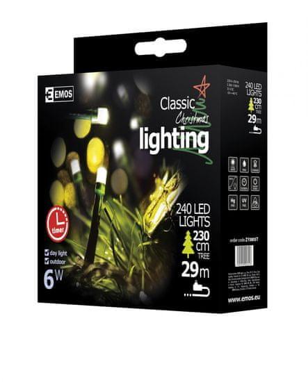Emos Veriga s časovnikom 240 LED 24 m, hladno bela - Odprta embalaža