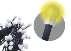 Emos Řetěz s časovačem 80 LED koule 8+5 m teplá bílá