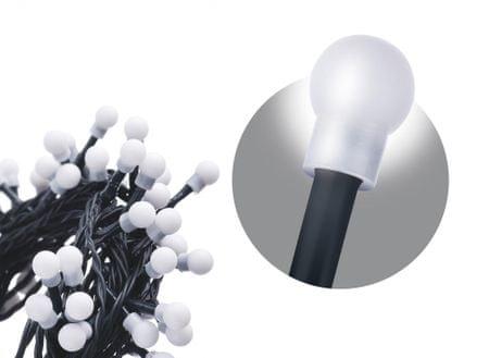 EMOS Łańcuch 300 LED - kuleczki, 30 m, zimny biały, zegar