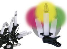 Emos 20 LED řetěz – svíčky, 7m, multicolor, časovač