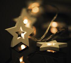 EMOS Drevené hviezdy 10 LED 1m teplá biela