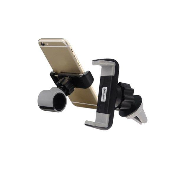 GoGEN univerzální držák na mobil, MCH640, 2v1, černo-šedý