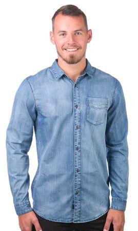 GLOBE pánská košile Goodstock Vintage L modrá