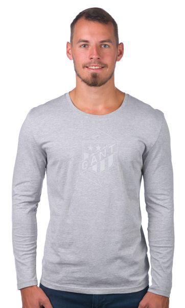 Gant pánské tričko M šedá