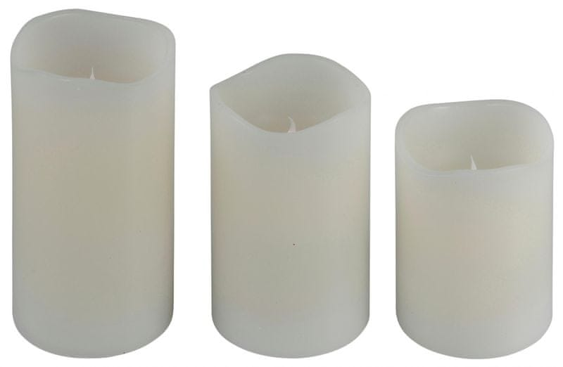 Metalac LED svíčky 3 ks s dálkovým ovládáním